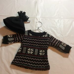Sweater dress & Hat